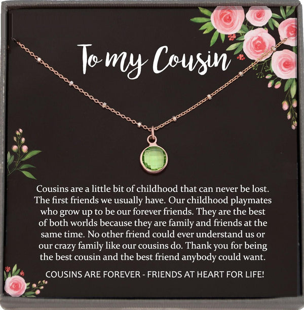 Gift for Cousin Gifts, Cousin Necklace, Cousin birthday gifts for Cousins gift Idea, Cousin Best Friend, Cousin Necklace