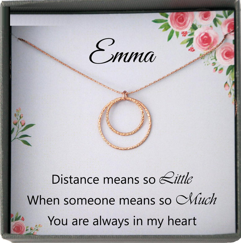 Long Distance Friendship Necklace for Best Friend Long Distance Gift for Best Friend Female