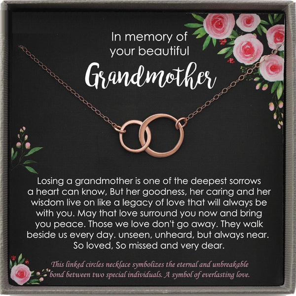 Memorial gift Grandmother Loss of Grandma In Memory of Grandma Sorry for your loss of loved one condolence gift