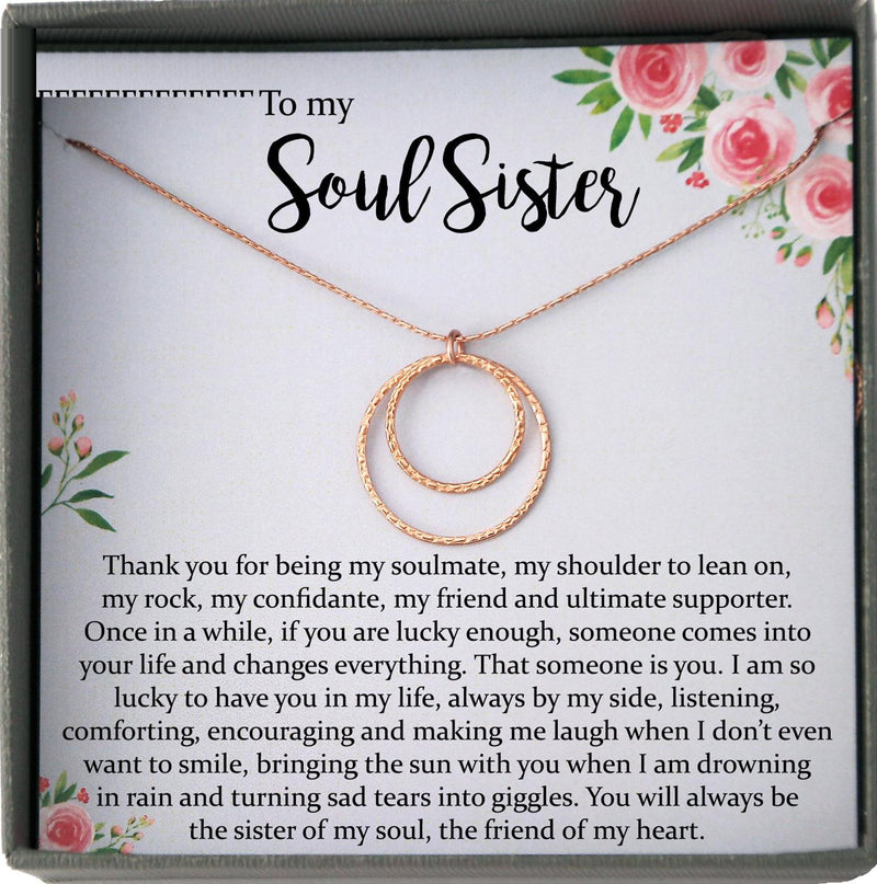 Soul Sister Gift, Best Friend Necklace Soul Sister Necklace Best Friend Gift Thank You Gift for Friend Best Friend Birthday Gift