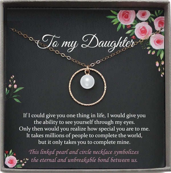 Daughter Gift from Mom to Daughter Necklace for Daughter Gift for Daughter from Mom daughter gift from dad to daughter birthday gift