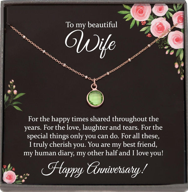 Wedding Anniversary gift for Wife Anniversary Necklace for Anniversary gift ideas anniversary gift for her anniversary Present for women