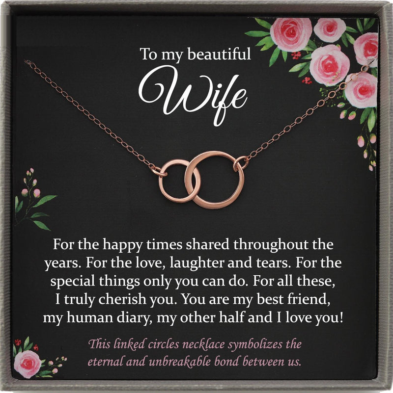 Wife Gift for Wife Christmas Gift, Wife Necklace Wife Birthday Gift from Husband to Wife Gift ideas Best Wife Ever Gift Wifey gift