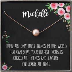 Rose Gold Necklace for Women, Rose Gold Jewelry for Women Gold Necklace for Friend