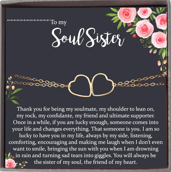 Soul Sister Bracelet for Best Friend Bracelet, Friendship Bracelet, Soul Sister Gift, unbiological sister