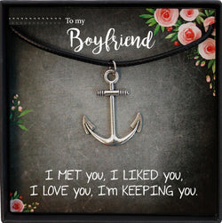 Boyfriend Gift, Gifts for Boyfriend Christmas Gift, Boyfriend Gift Anniversary, Boyfriend Birthday Gift, Anchor Necklace Men