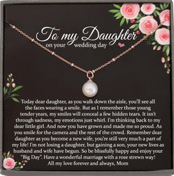 Bride Gift from Mom to Daughter on Wedding Day gift for Daughter on wedding day from Mother to Daughter Wedding, Satellite Chain Necklace