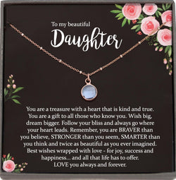 Daughter Necklace for Daughter Gift for Daughter Birthday Gift to Daughter from Mom to Daughter Christmas Gift Satellite Chain Necklace