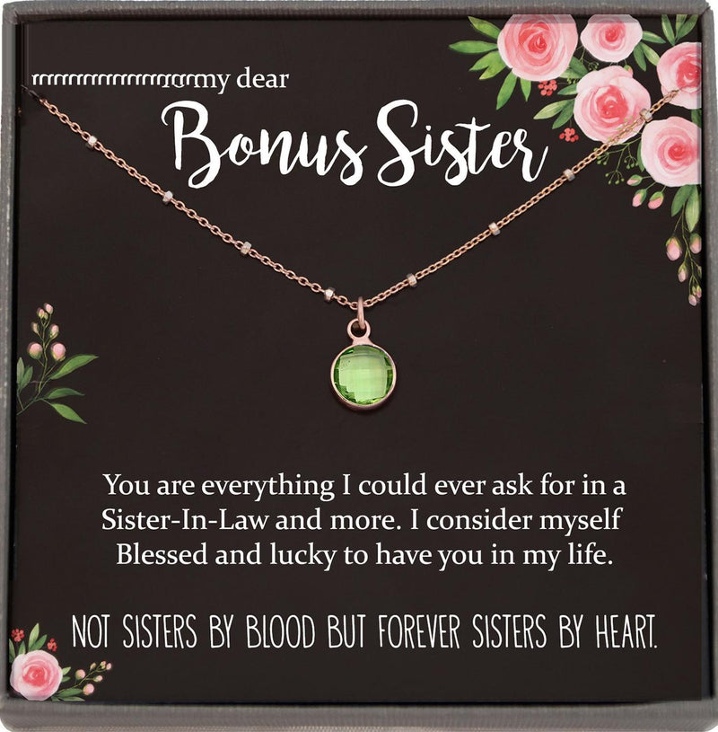 Sister in Law Necklace Sister-in-Law Birthday Gift for Sister in Law Gift from Bride best sister in law ever Satellite Chain Necklace