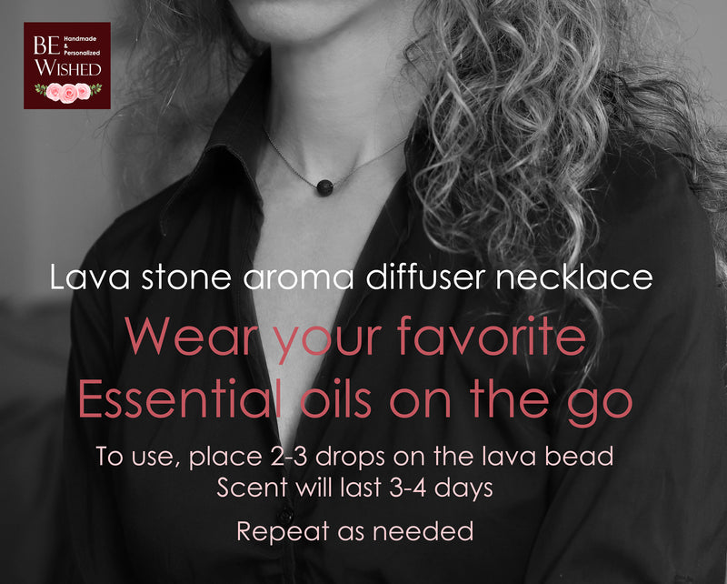 Aunt Gift Necklace: Essential Oil Diffuser Necklace Lava stone Necklace