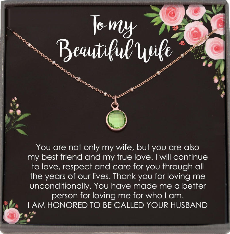 Wife Christmas Gift for Wife from Husband Birthday Gift for Wife Gift Anniversary Gift for Her, Necklaces for Women Satellite Chain Necklace