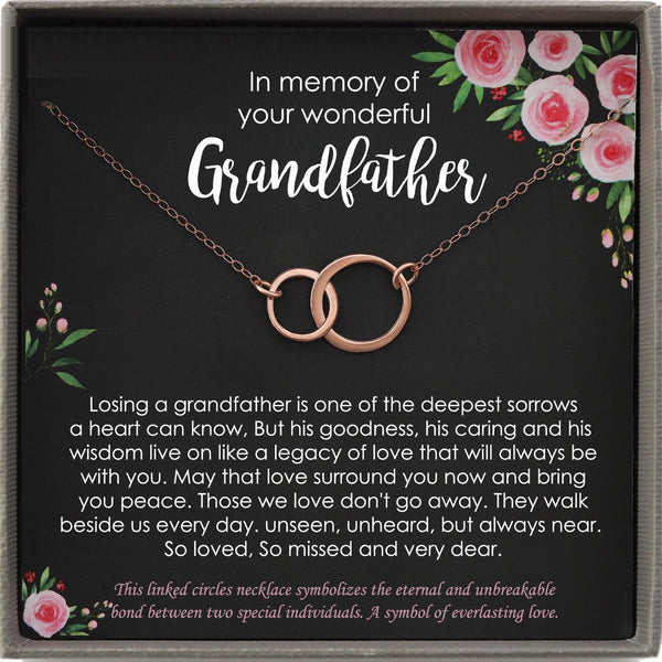 Memorial gift Grandfather Loss of Grandpa In Memory of Grandpa Sorry for your loss of loved one condolence gift, bereavement gift