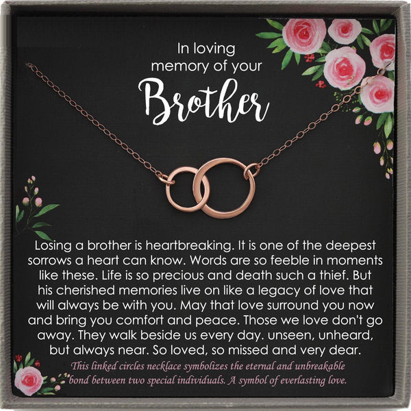 Memorial Gifts for Loss of a Brother Gift, Brother Condolence gift, Grief Gift, Remembrance Necklace, Sorry for your loss, bereavement gift