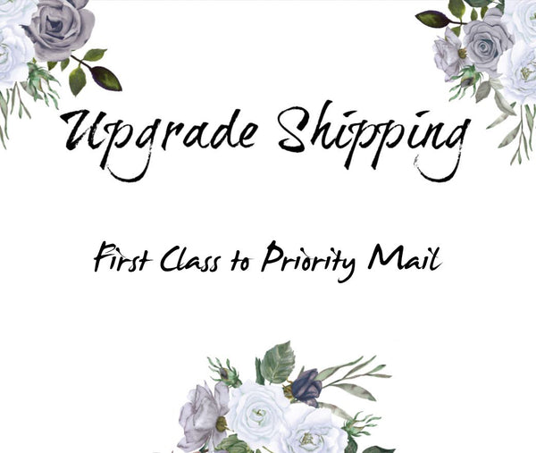 Shipping Upgrade: from First class to Priority Mail shipping