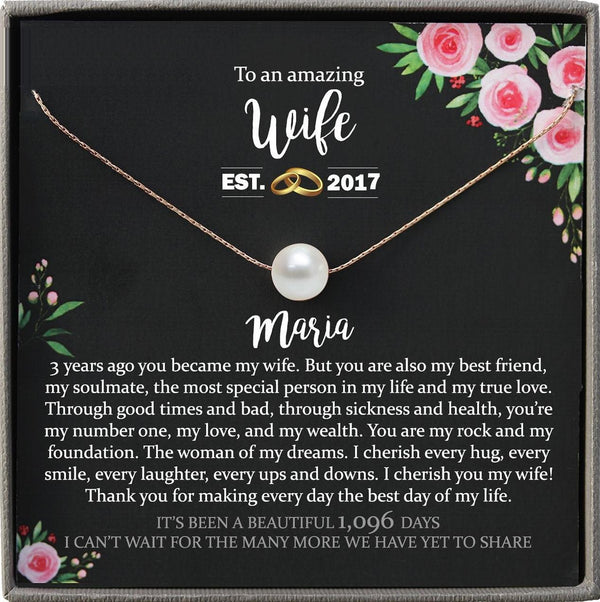 3rd anniversary gift for wife Personalized Leather Anniversary gift ideas Third anniversary Gifts 3 year anniversary gift for her