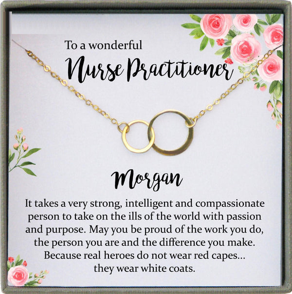 Nurse Practitioner Gifts for Women, Nurse Practitioner Graduation Gift, Registered nurse jewelry, Personalized nurse gift