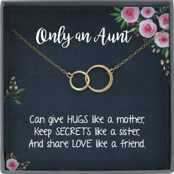Aunt Gift for Aunt Necklace, Auntie Gift, Aunt Charm, Aunt Birtday Gift