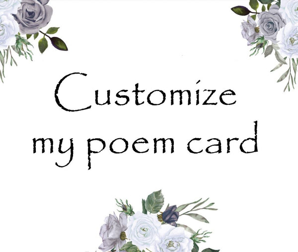 Customize my poem card