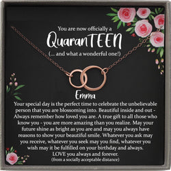 Quaranteen Birthday, 13th birthday girl, 13th birthday gift, Thirteenth Birthday Necklace, gift for 13 year old girl gifts, Teen birthday