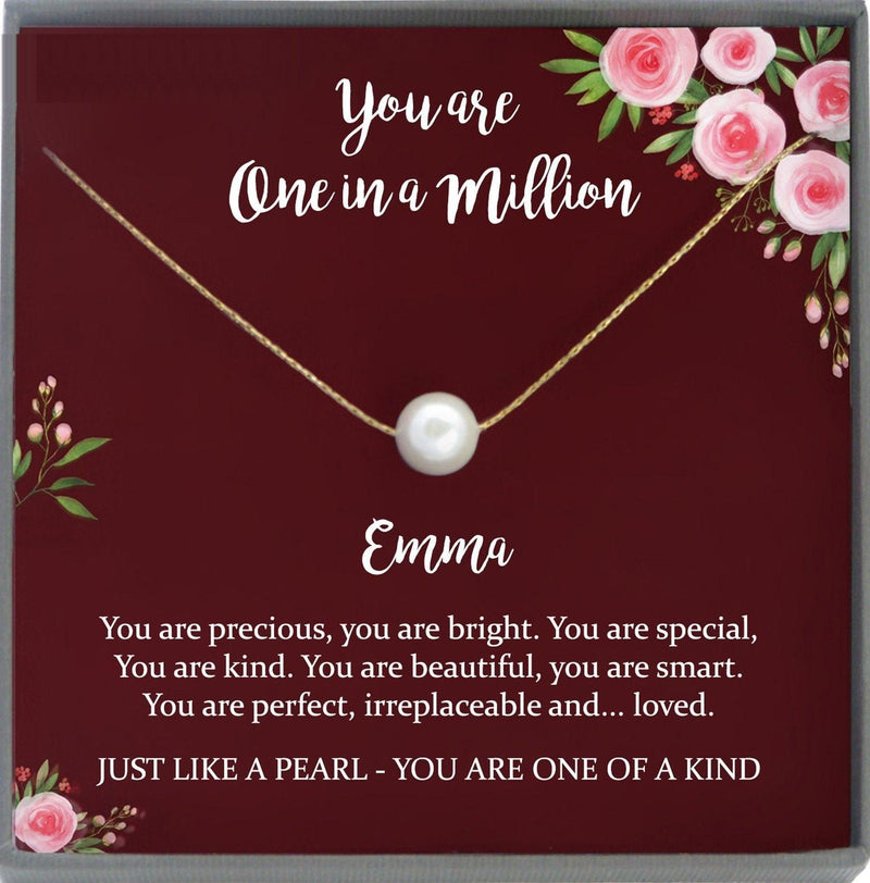 Affirmation Necklace, Inspirational Gift, Mindfulness Gift, You are Loved You are Enough, You're One in a Million Encouragement Necklace