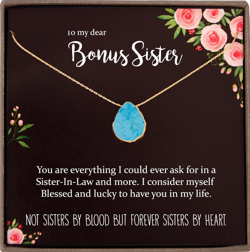 Sister in Law Necklace Sister-in-Law Christmas Gift for Sister in Law Gift for Unbiological Sister Gift, Bonus Sister gift