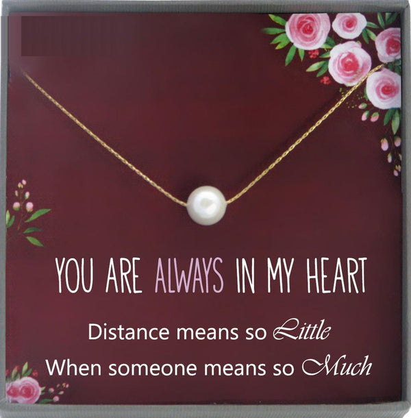 Long Distance Relationship Necklace, Long Distance Gifts family Best Friend Friendship Girlfriend Mom Moving Away Gift goodbye gift Farewell