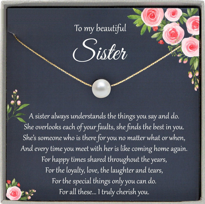 Sister Necklace for Sister Gift Ideas, Sister Birthday Gift, Sisterhood Gift, Big Sister Gift, Sister Jewelry