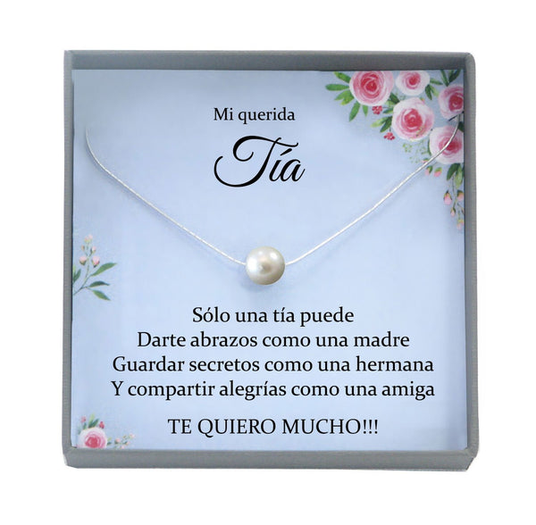Tía Gift for Tía Gift Idea, Regalo para Tia Birthday, Spanish gift, Promoted to Tia Necklace, Best Tia