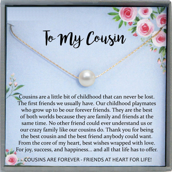 Gift for Cousin Gifts, Cousin Necklace, Cousin wedding gifts for Cousins gift Idea, Cousin Best Friend Cousin Birthday Gift