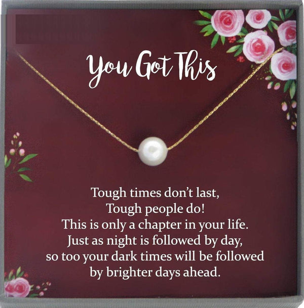 You Got This Necklace, Break up gift, breast cancer gifts, You Got This Gift of Encouragement gift, Divorce gift, Cheer up Gift