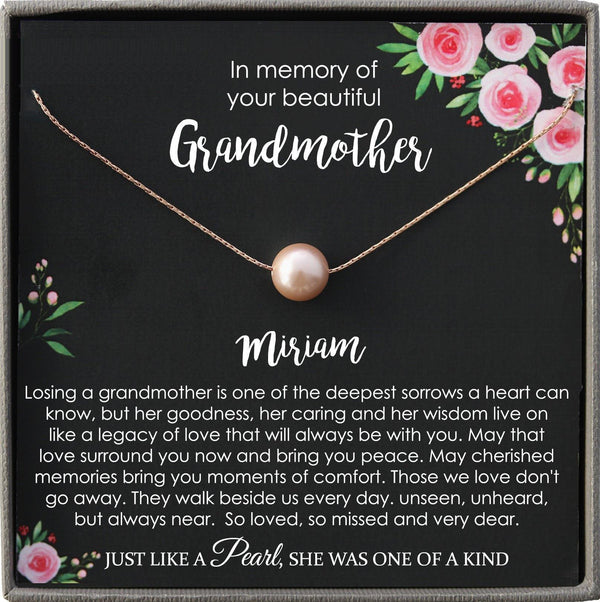Memorial gift Grandmother Loss of Grandma In Memory of Grandma Sorry for your loss of loved one condolence gift, bereavement gift