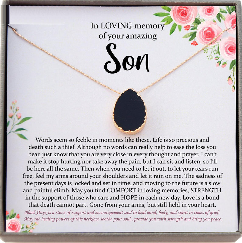 Loss of Son Gift In memory of Son Grief Gift Son Remembrance Necklace Son memorial Gift Grieving Mother Sorry for Your Loss Mourning Jewelry