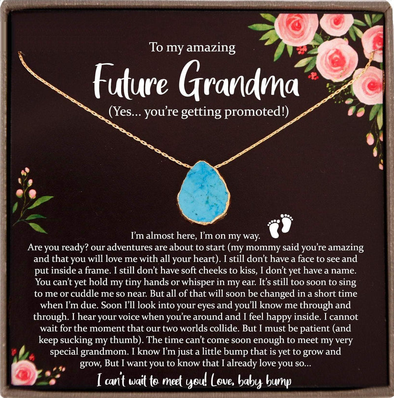 Baby Announcement Grandparent, New Grandma Gift, Promoted to Grandma Pregnancy Reveal Gift for New Grandmother Gift, First Time Grandma