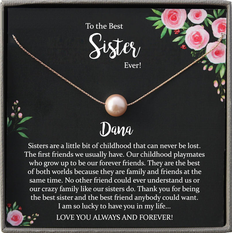 Sister Necklace for Sister Gift Ideas, Sister Birthday Gift, Sisterhood Gift, Big Sister Gift, Sister Jewelry, Best Sister Ever Gift