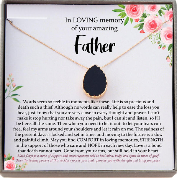 Loss of Father Gift, Dad Memorial Gift Dad condolence gift, Grief Gift, Father Remembrance Necklace, Sorry for your loss , bereavement gift