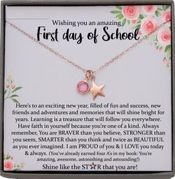 First Day of School Gift, Back to School Gift, 1st day of School Present Freshman College Gift, High School, Kindergarten, Middle, Preschool