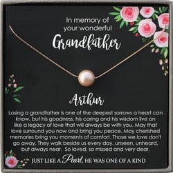 Loss of Grandfather Memorial gift Grandpa Grief Gift Bereavement gift In Loving Memory Mourning Jewelry Keepsake Sympathy Gift