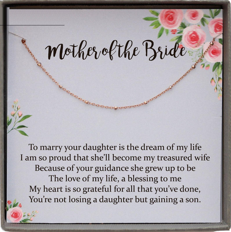 Mother of the Bride Gift from Groom, Mother in Law Wedding Gift from Groom, Wedding Gift for Mother in Law from Groom