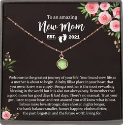 First Time Mom Gift, New Mom Gift Jewelry, Gift for New Mom Necklace, New mommy Gift for Baby Shower gift for first Mother's day