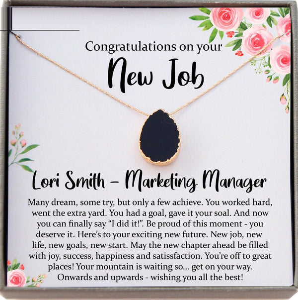 New Job Gift for Her, Congratulations Gift New Job, Colleague Leaving Gift, New Job Gifts for Woman, new job card