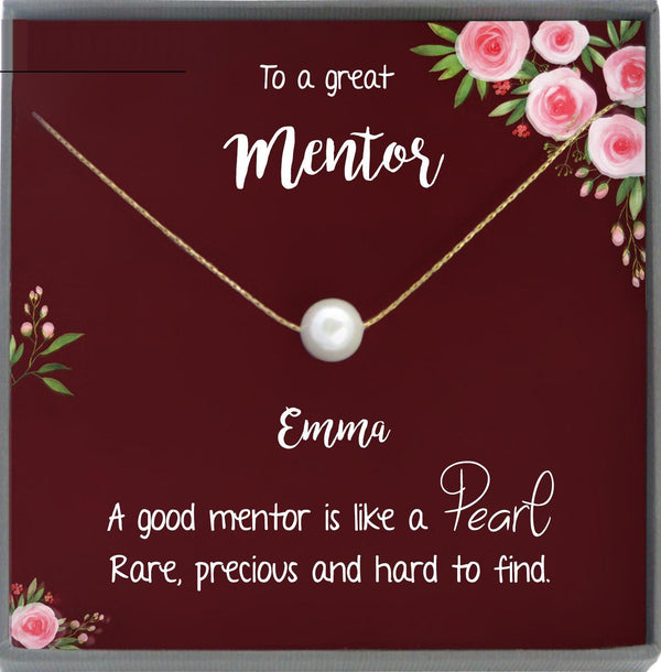 Mentor gift for Women Necklace: Gift for Boss, Teacher, Professor, Tutor, Thank You Gifts for Women, Appreciation Gifts