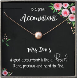 Accountant Gift For Woman, Accounting Gifts, Future Accountant to Be Gift Necklace