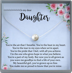 Daughter Necklace for Daughter Gift for Daughter Birthday Gift to Daughter from Mom to Daughter