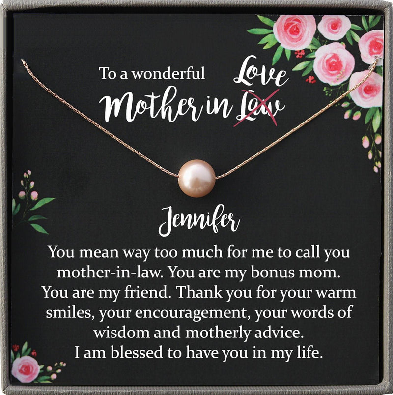 Funny Mother in Law Gifts, Mother-In-Law Necklace: Mother-In-Law, Mother-In-Law Gift, Mother-In-Law Necklace, To My Mother-In-Law Card Funny