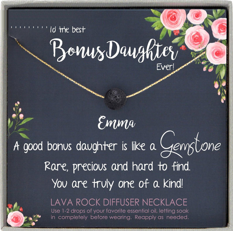 Step Daughter Gift for Step Daughter, Bonus Daughter Gift Necklace Blended Family Stepdaughter Gift daughter of bride