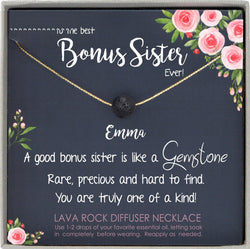 Sister in Law Necklace Sister-in-Law Birthday Gift for Sister in Law Gift from Bride best sister in law ever, Bonus Sister