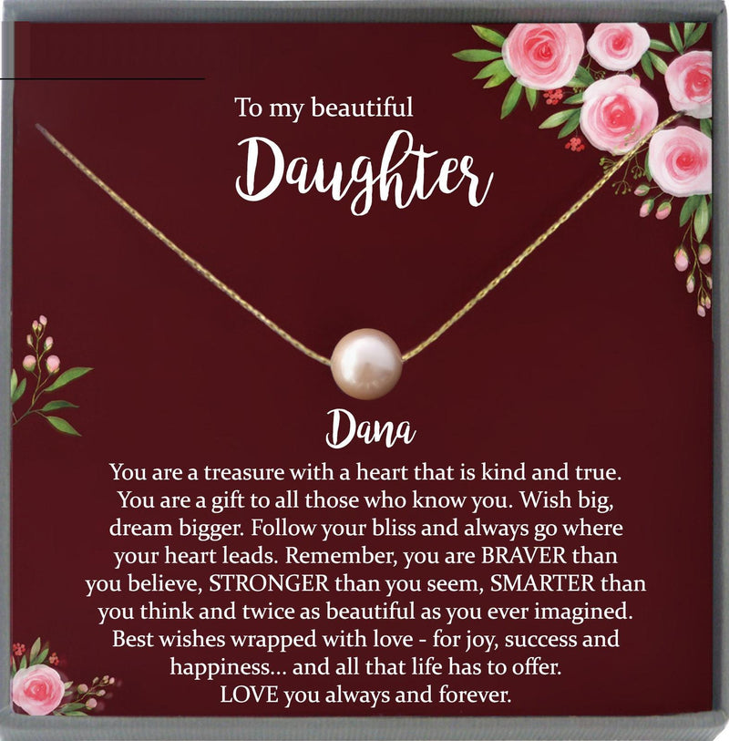 Daughter Gift from Mom to Daughter Necklace for Daughter Gift for Daughter from Mom daughter gift from dad to daughter christmas gift girls