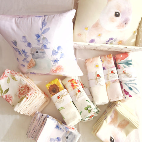New tea towels and cushion covers have arrived!