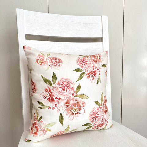 Roses Cotton Cushion Cover