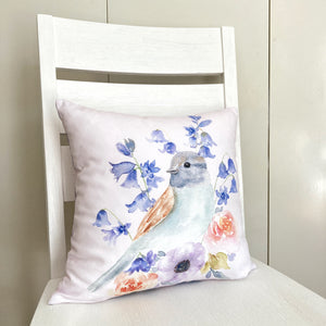 Bluebird Cotton Cushion Cover